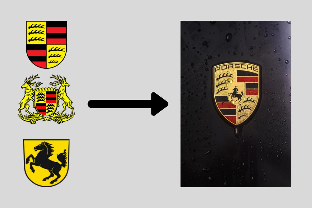 jak powstało logo porsche